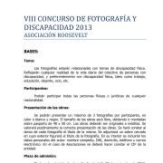 23-07-13  BASES VIII CONCURSO DE FOTOGRAFÍA Y DISCAPACIDAD 2013-1
