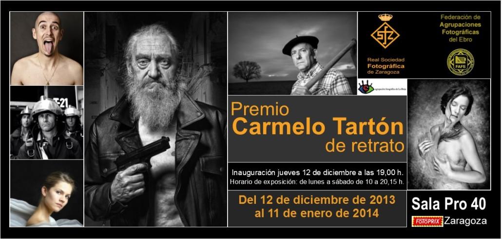 Tarjeta Premio Carmelo Tartón de Retrato 2013