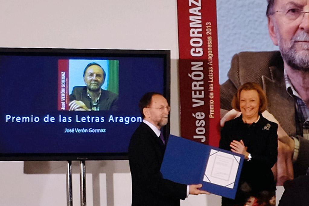 José Verón. Premio de las Letras Aragonesas 2013. Fotografía de A.Morón