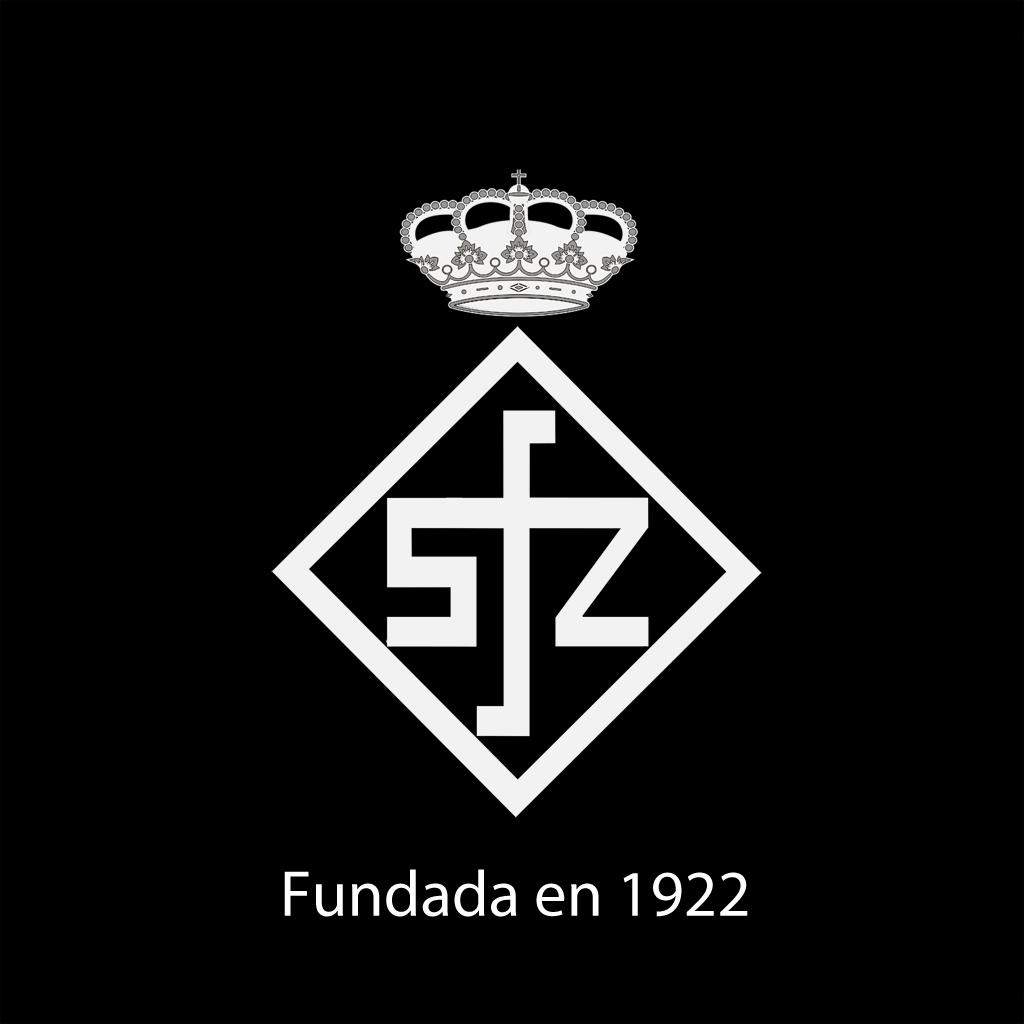 Escudo RSFZ  blanco fondo negro