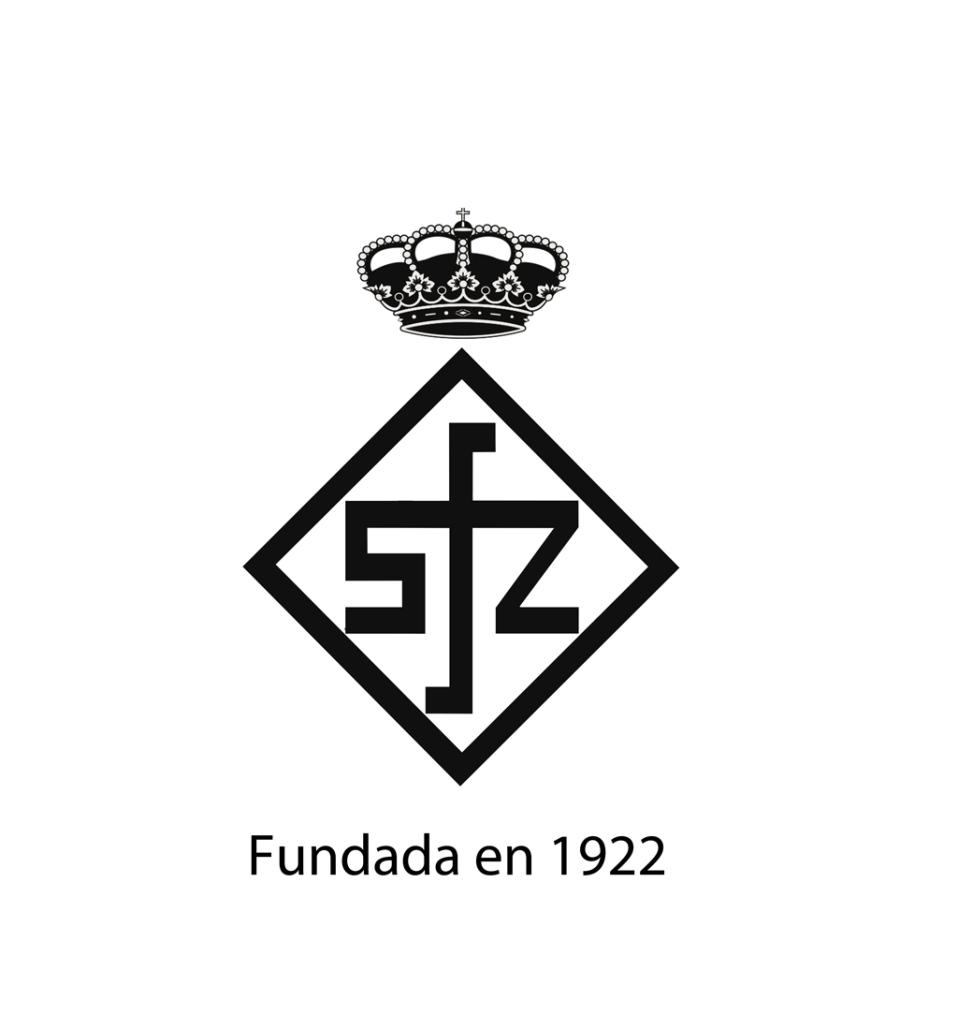 Escudo RSFZ negro fondo blanco