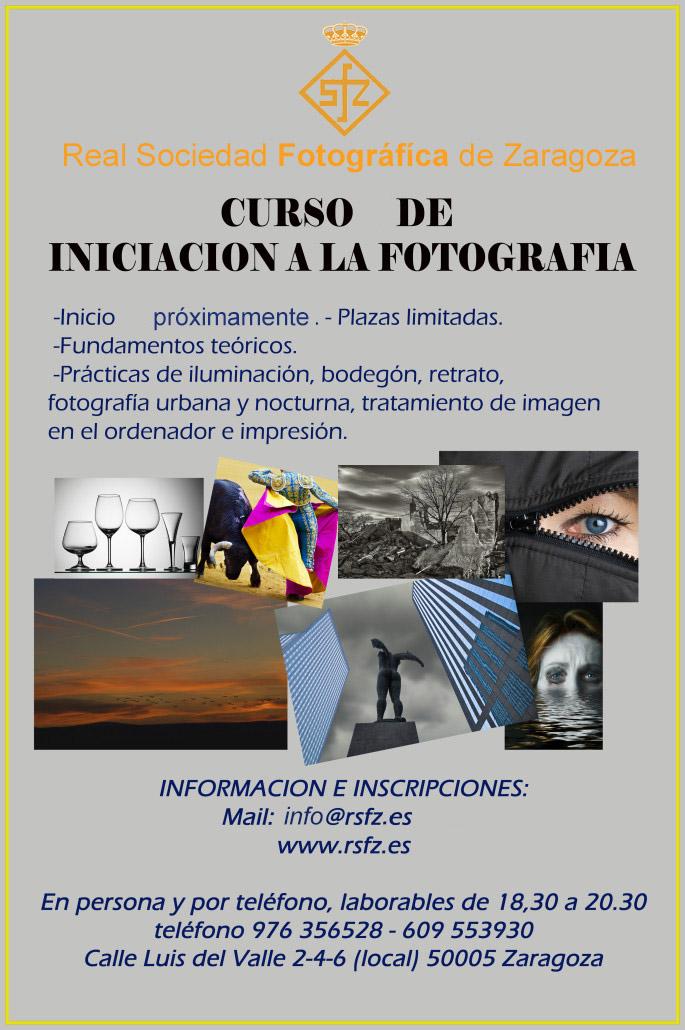 Cartel Información Curso de Iniciación a la Fotografía
