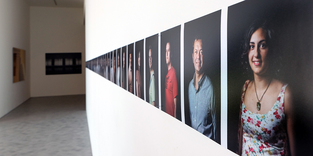 Exposición La noche en Blanco. IAACC Pablo Serrano. Colectiva RSFZ. 2014